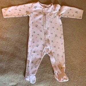 Carter's Pink Pajamas w/ feet zips top/bottom 9mo